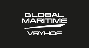 Global Maritime reversed-out logo