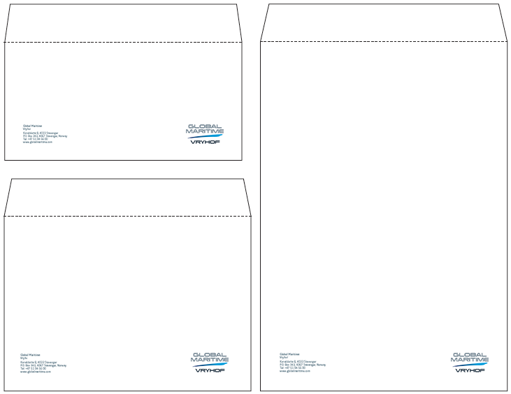 Envelopes in InDesign format